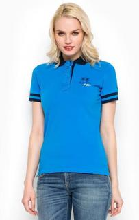 Синяя футболка поло из хлопка La Martina