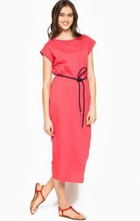 Коралловое платье из хлопка Kocca