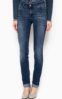Зауженные джинсы с заломами Fornarina