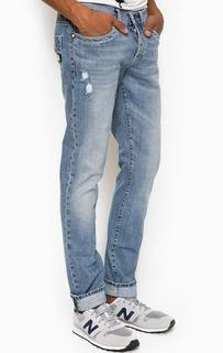 Рваные джинсы на болтах Bikkembergs