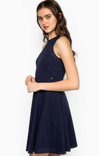 Короткое синее платье из вискозы Kocca