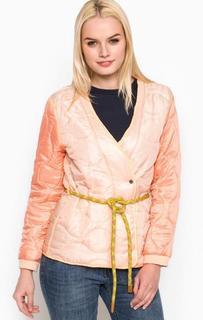 Коралловая куртка с поясом Maison Scotch