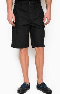 Черные хлопковые шорты с карманами по бокам Diesel