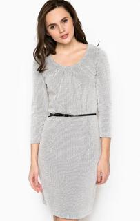 Серое платье с ремнем S.Oliver Premium