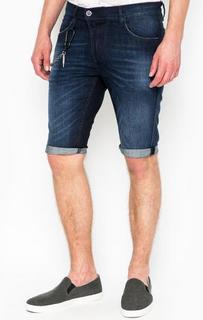 Синие джинсовые шорты с декором Antony Morato