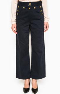Широкие синие брюки Maison Scotch