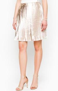 Плиссированная золотистая юбка Marciano Guess