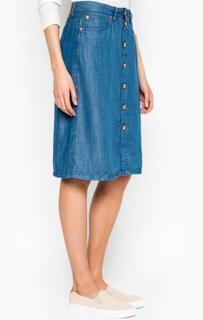 Джинсовая юбка средней длины с карманами Drykorn