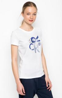 Белая футболка с принтом 18 Crr81 Cerruti