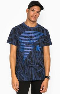 Синяя футболка с принтом G Star RAW