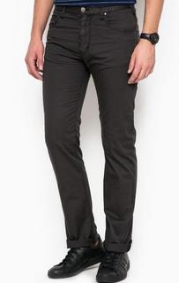 Серые брюки прямого кроя Armani Jeans