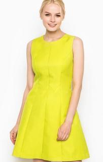 Приталенное салатовое платье Darling