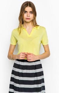 Желтый джемпер с короткими рукавами More & More