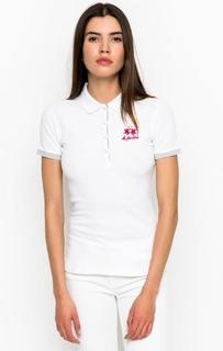 Белая футболка поло La Martina