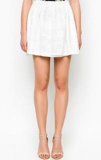 Короткая белая юбка Relish