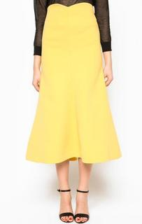Расклешенная желтая юбка Miss Sixty