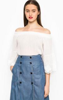 Блуза оверсайз с открытыми плечами Miss Sixty