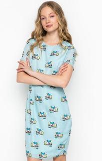 Голубое платье с короткими рукавами Sugarhill Boutique