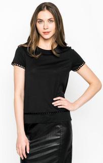 Черная футболка с круглым вырезом Rich&Royal