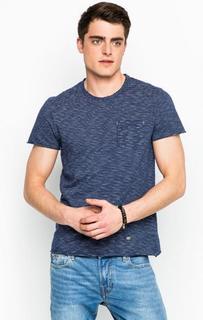 Синяя футболка с карманом Gaudi