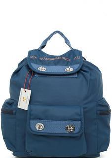 Синий рюкзак из хлопка и полиуретана Mandarina Duck