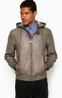 Серая куртка со съемным капюшоном Guess