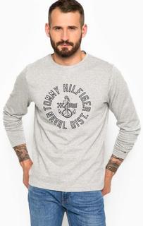 Хлопковая футболка с круглым вырезом Tommy Hilfiger