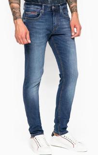 Зауженные джинсы с контрастной строчкой Hilfiger Denim
