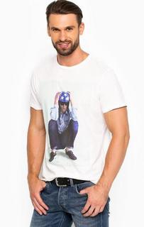 Хлопковая футболка с контрастным принтом Lee