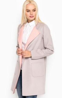 Серое пальто из шерсти, полиэстера и вискозы More & More