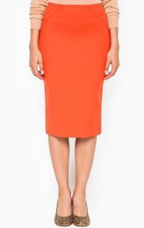 Оранжевая юбка-карандаш Patrizia Pepe