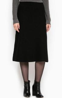 Расклешенная черная юбка More & More