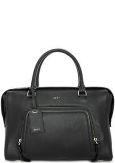 Кожаная сумка с короткими ручками Dkny