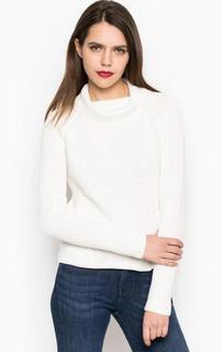 Белый свитер крупной вязки More & More