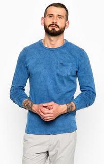 Синяя хлопковая футболка с круглым вырезом Pepe Jeans