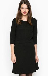 Черное платье с рукавами 3/4 More & More