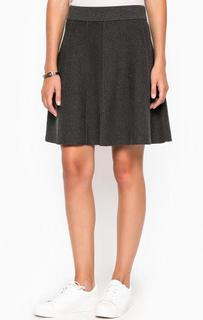 Короткая серая юбка на резинке More & More