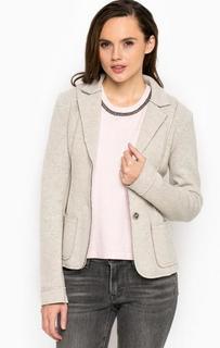 Серый пиджак из шерсти на пуговицах More & More