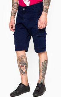 Шорты синего цвета с карманами Armani Jeans