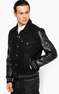 Шерстяная куртка с кожаными рукавами Levis®