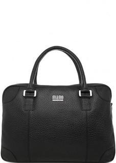 Черная кожаная сумка со съемным ремнем Mano