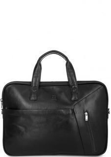Кожаная сумка с двумя отделами Sergio Belotti