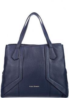 Кожаная сумка с короткими ручками и дополнительным плечевым ремнем Fiato Dream