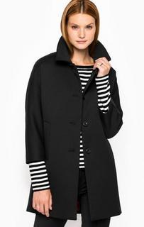 Пальто прямого кроя из полиэстера и шерсти Cinque