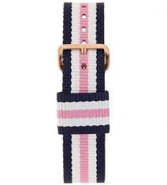 Нейлоновый ремешок для часов белого, синего и розового цветов Daniel Wellington