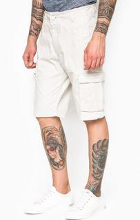 Белые хлопковые шорты с карманами Armani Jeans