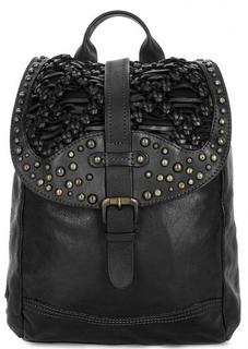 Кожаный рюкзак с металлическим декором Taschendieb