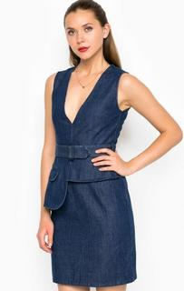 Короткое джинсовое платье с глубоким декольте Miss Sixty
