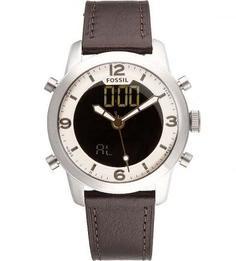 Кварцевые часы с будильником Fossil