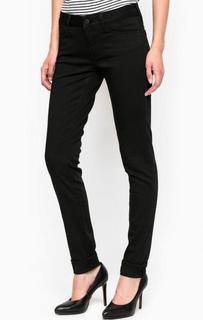 Черные зауженные брюки из хлопка и полиэстера Mavi
